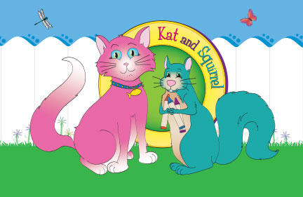 Free Kat and Squirrel Poster
