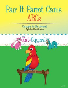 """Pair it"" Parrot - ABC Recognition Game from Kat and Squirrel"