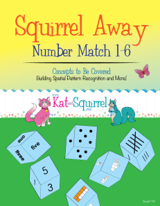 Squirrel Away Number Match 1-6 Game from Kat and Squirrel