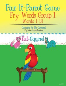 Pair It - Parrot Game with Fry Words (Group 1 Words 1-31)