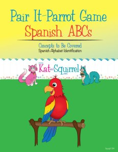 Learn the Spanish Alphabet with the Pair It Parrot game!