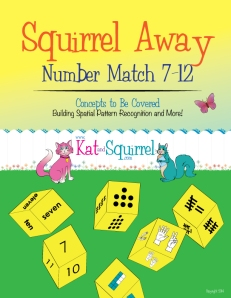 Squirrel Away Number Match 7-12 Game - Kat and Squirrel