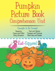 Pumpkin Picture Book Comprehension Unit - KatandSquirrel.com