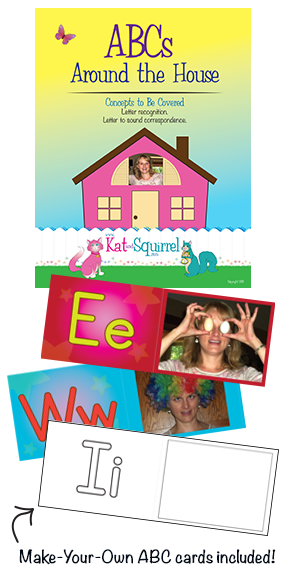 Learn Your ABCs with Kat and Squirrel's ABC Around the House Lesson