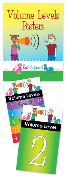 Volume Levels Poster - Kat and Squirrel